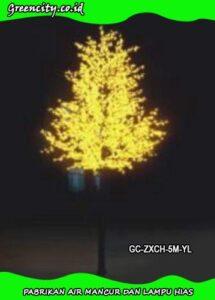 Beli lampu hias pohon sintetis rgb GC-ZXCH-5M-YL