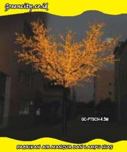 Lampu hias bentuk pohon plastik GC-PTSCH-4.5M