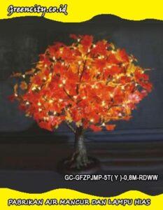 Lampu hias led bentuk pohon bonsai GC-GFZPJMP-5T( Y )-0,8M-RDWW