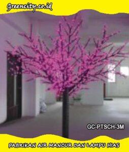 Pabrikan lampu hias pohon plastik untuk taman murah GC-PTSCH-3M