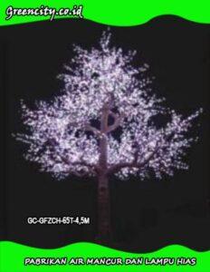 cara memasang lampu hias pohon GC-GFZCH-65T-4,5M
