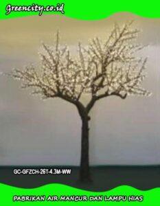 lampu hias pada pohon natal menggunakan rangkaian GC-GFZCH-26T-4.3M-WW