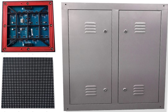 Tampilan modul dan kabinet videotron